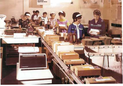 See's Mail Order room in the 1960s