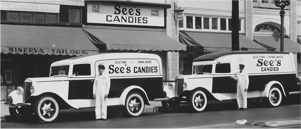 See's Candies vintage delivery cars
