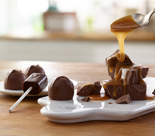 Double Caramel and Chocolate Caramel Lollypops