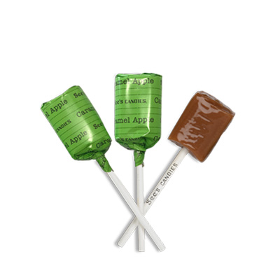 Caramel Apple Lollypops