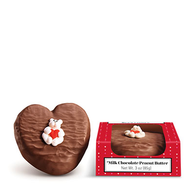 Milk Chocolate Peanut Butter Heart