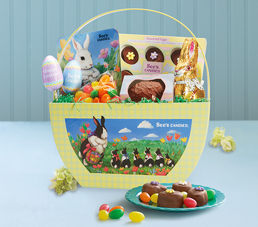 See's Easter Favorites Basket