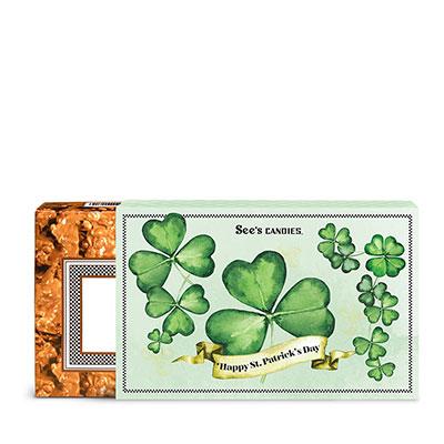 St. Patrick's Day Peanut Brittle