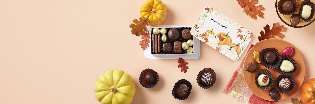 Chocolate gifts and treats for Thanksgiving