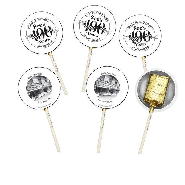 Centennial Butterscotch Lollypops