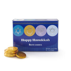 Milk Chocolate Hanukkah Gift of Gelt View 1