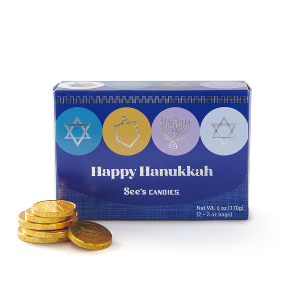 Milk Chocolate Hanukkah Gift of Gelt