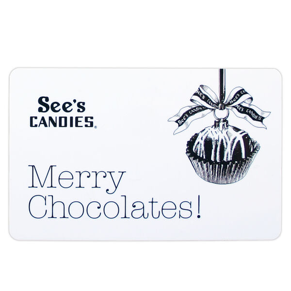 "$25 Gift Card (""Merry Chocolates"") view 1"