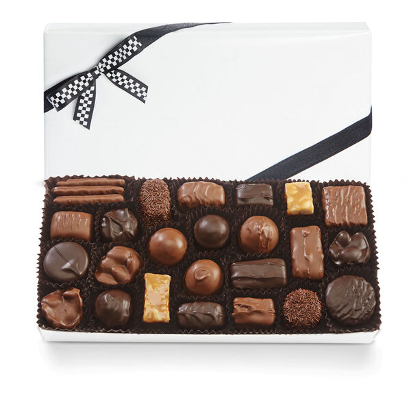 Assorted Chocolates with Black & White Bow view 1