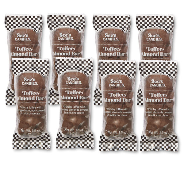 Milk Toffee Almond Bars
