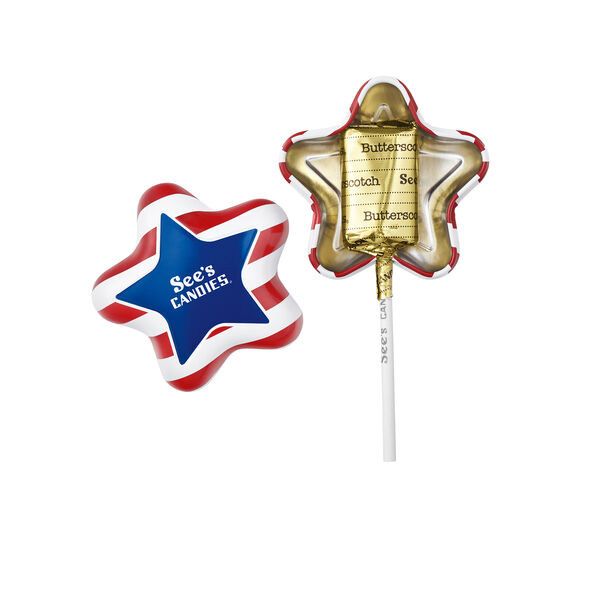 Patriotic Butterscotch Lollypop