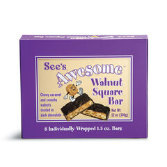 See's Awesome® Walnut Square Bars View 1