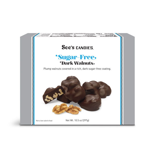 Sugar Free Dark Walnuts view 1