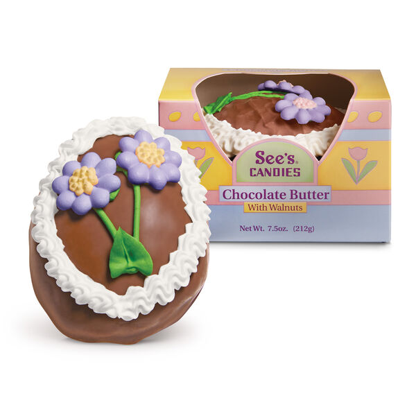 Chocolate Butter Egg with Walnuts