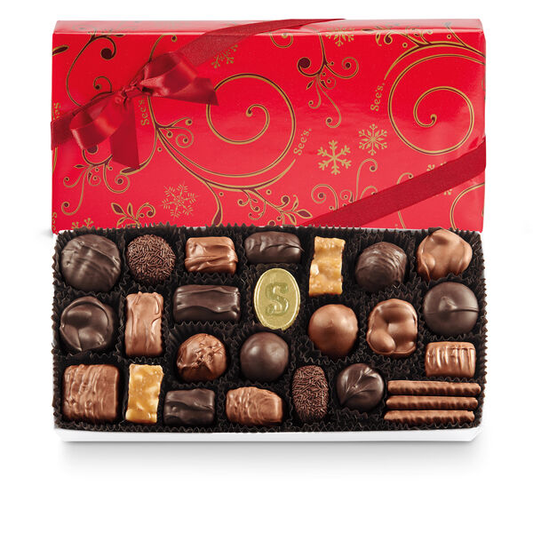 Assorted Chocolates with Red Bow view 1