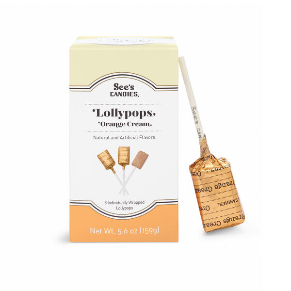 Orange Cream Lollypops