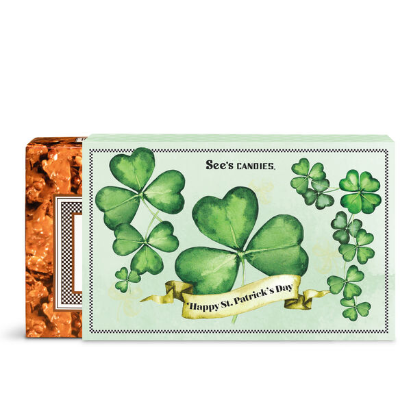 St. Patrick's Day Peanut Brittle