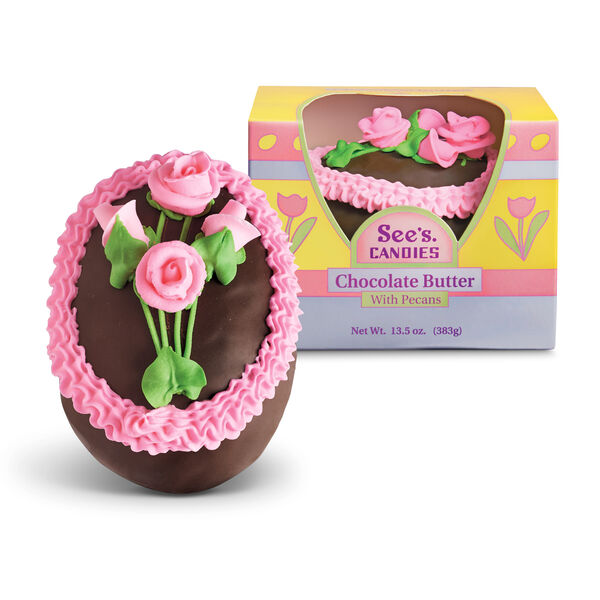 Chocolate Butter Egg with Pecans view 1