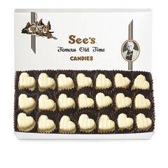 White Mint Truffle Hearts View 1
