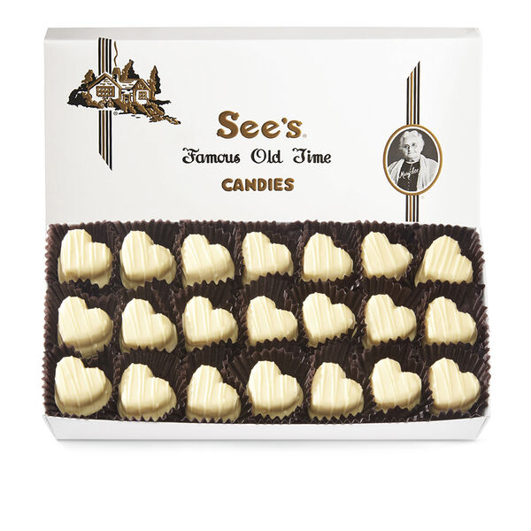 White Mint Truffle Hearts view 1