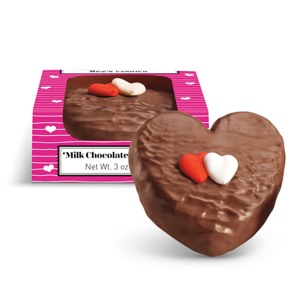 Milk Chocolate Bordeaux™ Heart