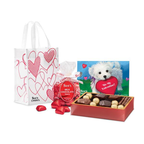 Valentine Puppy Gift