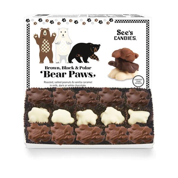 Brown, Black & Polar Bear Paws
