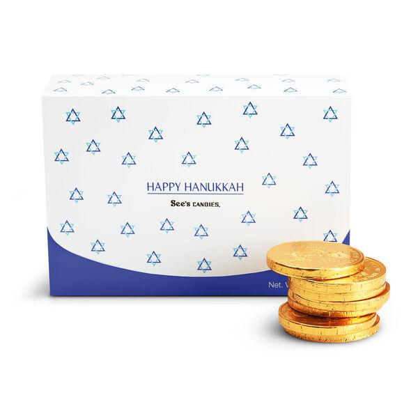 Hanukkah Gold Coins view 1