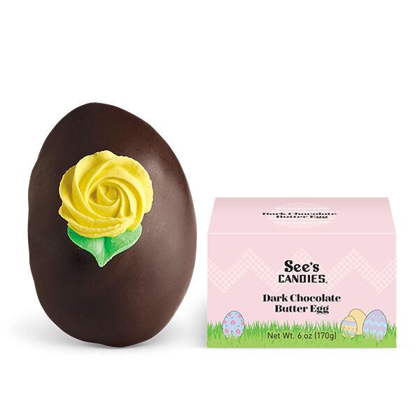 Dark Chocolate Butter Egg