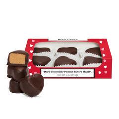 Dark Chocolate Peanut Butter Hearts View 1