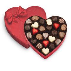 Satin Truffle Heart View 1