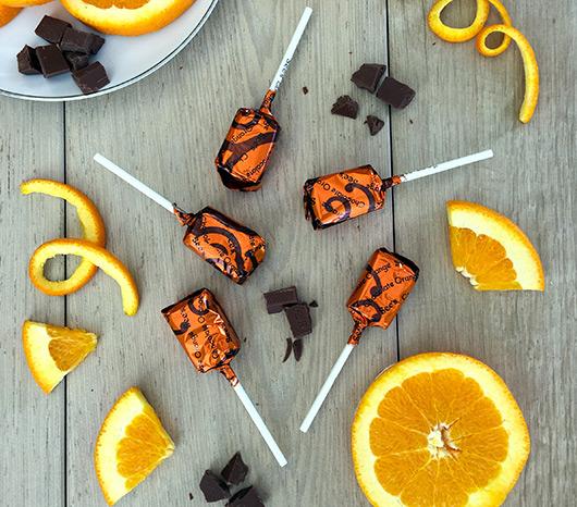 Chocolate Orange Lollypops