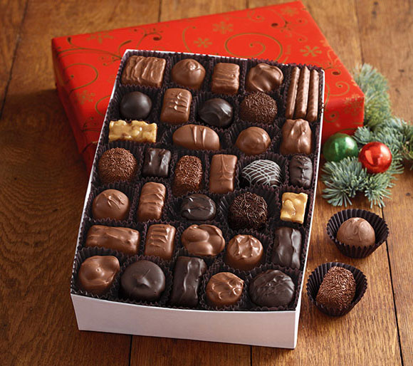 Gift Wrapped Boxes of Chocolate
