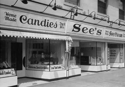 storefront of See's first shop