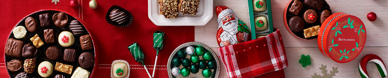 See's Christmas candies environmental