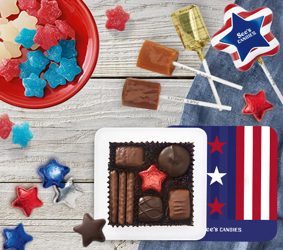 Patriotic Candy Treats and Gifts