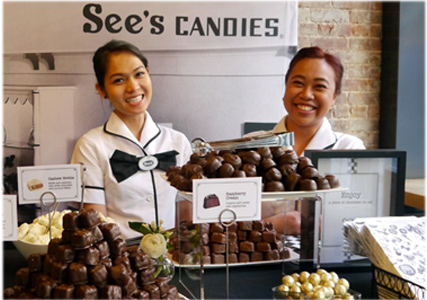 Happy See's employees