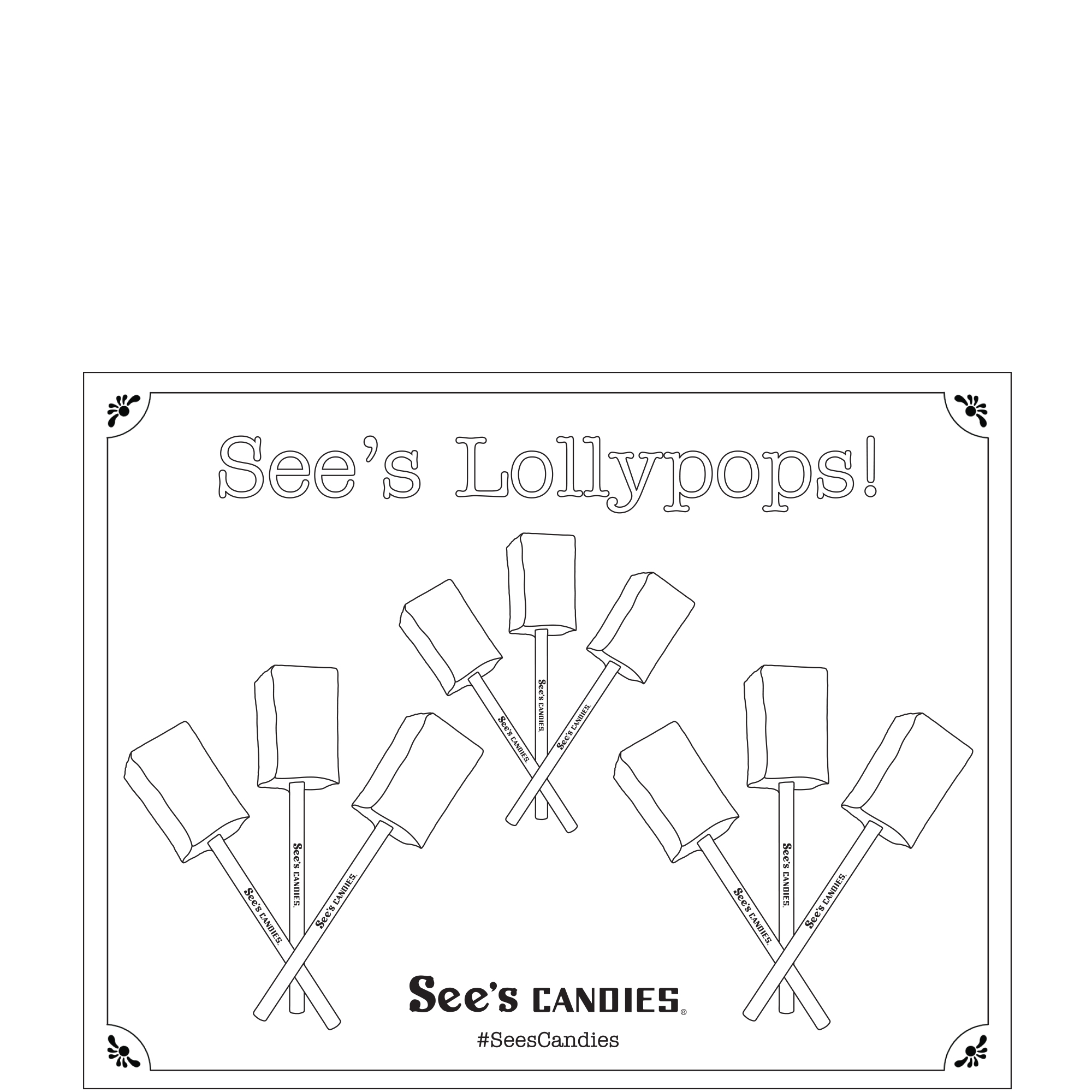 National Lollypop Day Coloring Page 3