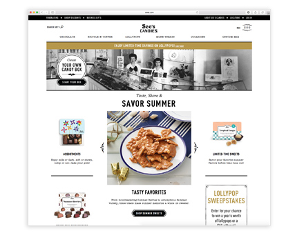 See's Candies online shop storefront