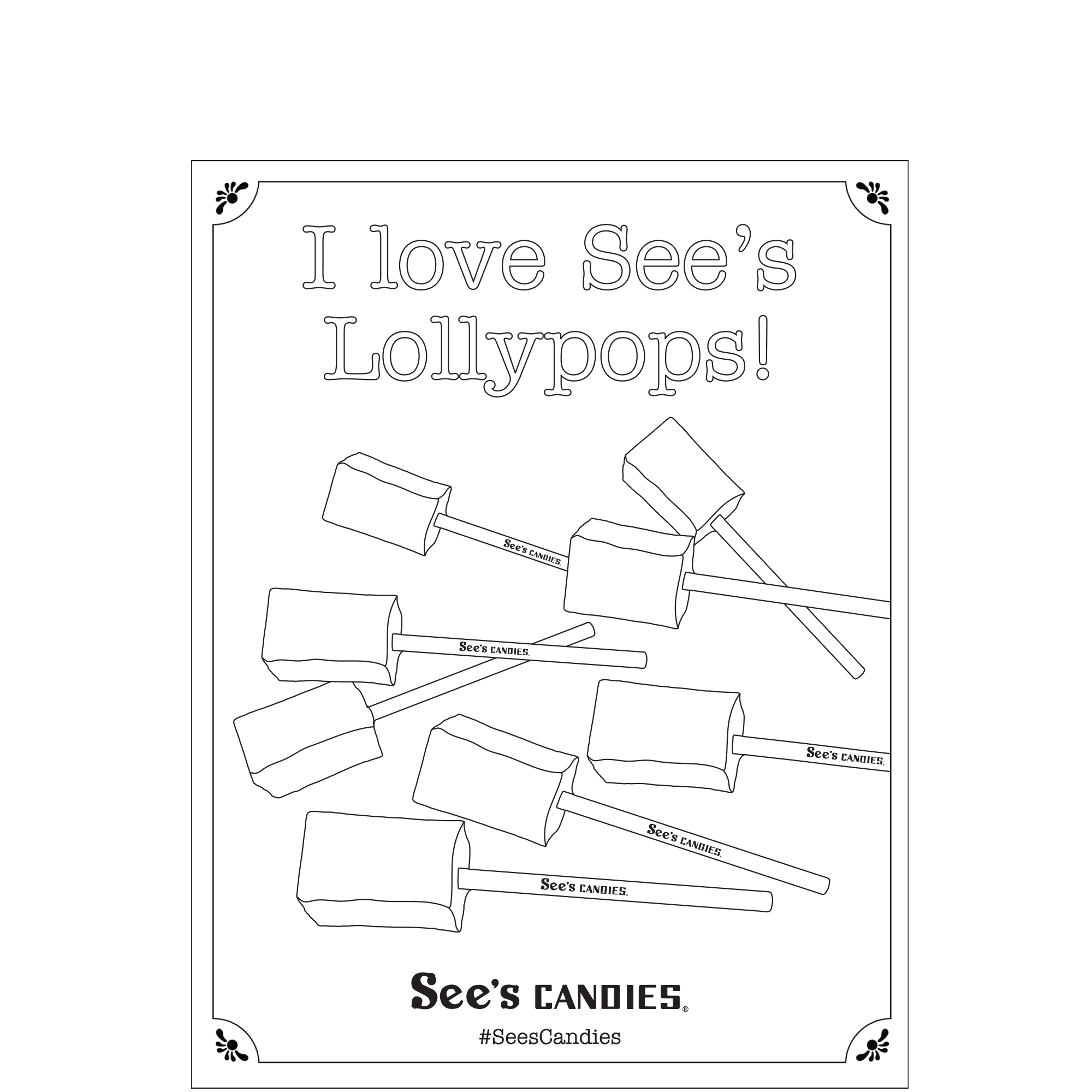 National Lollypop Day Coloring Page 2