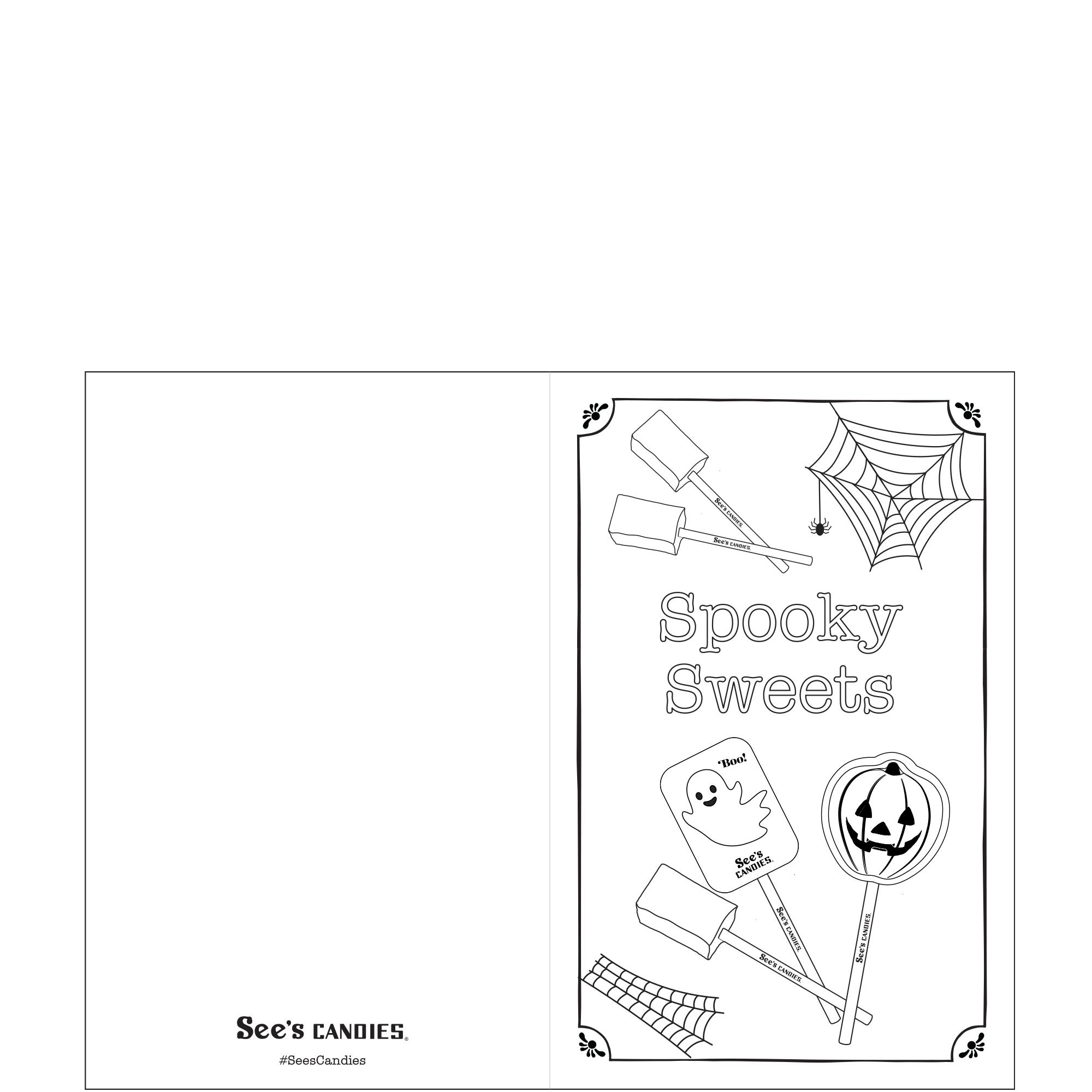 Spooky Sweets Halloween Card