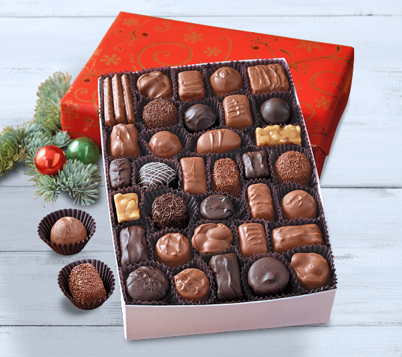 Gift Wrapped Boxed Chocolates