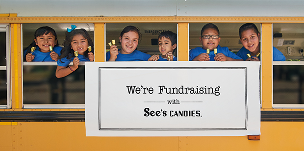 San Mateo Park Elementary children fundraising with See's