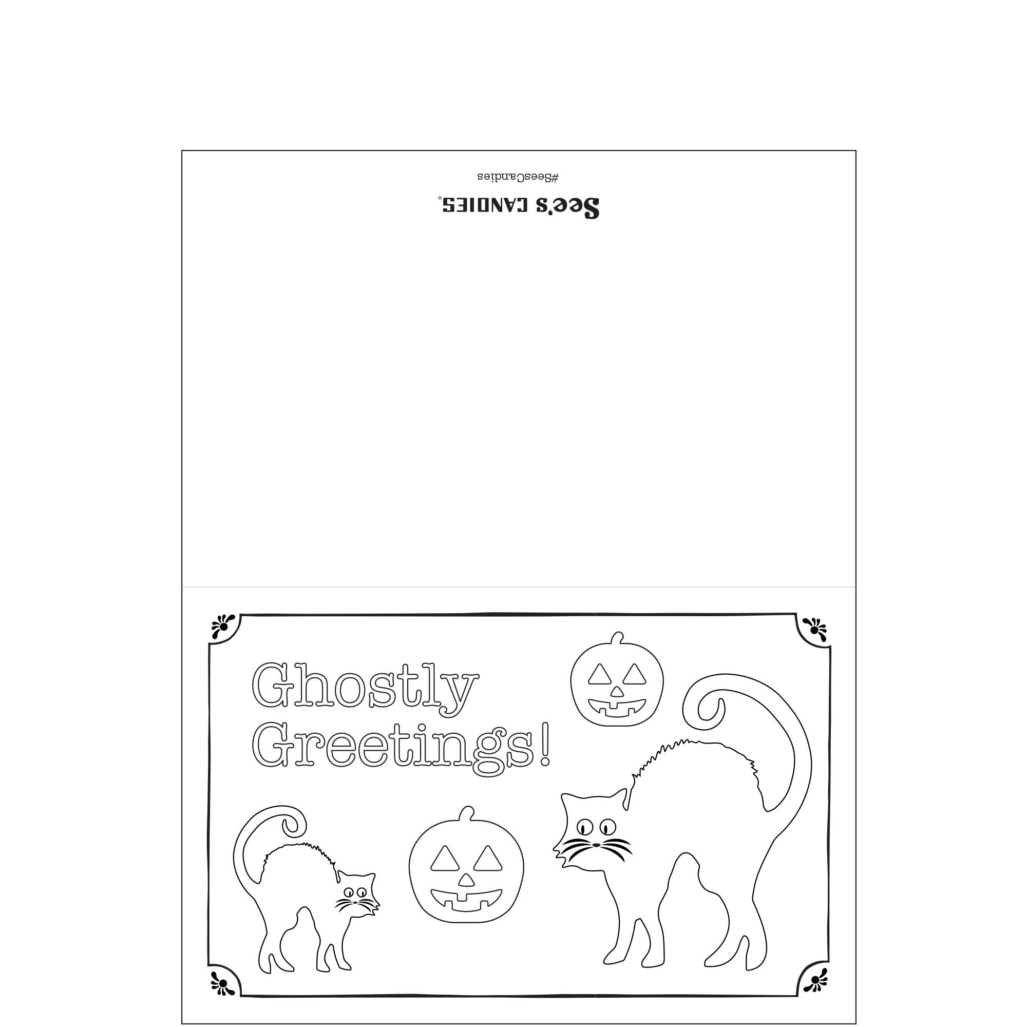 Ghostly Greetings Halloween Card
