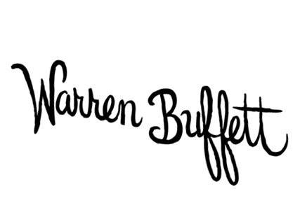 Warren Buffett's signature