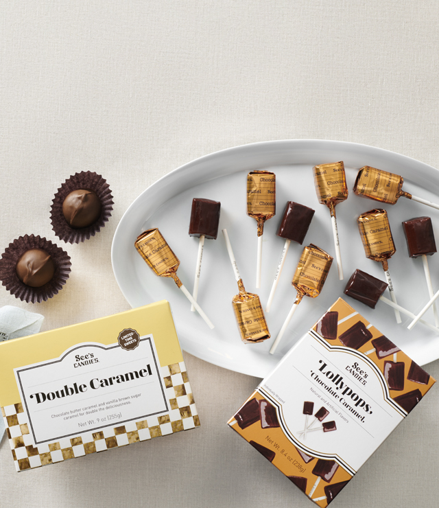 Double Caramel And Chocolate Lollypops