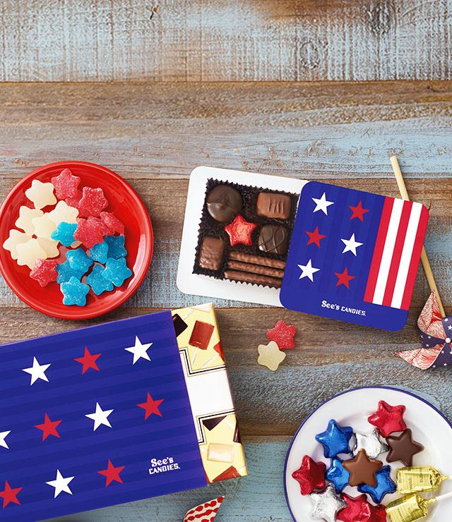 Chocolate Patriotic Treats