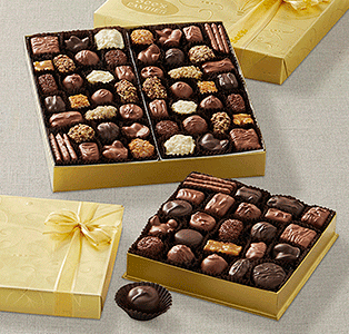 Gold Fancy Chocolate Boxes